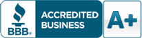 BBB Accredited Business Seal A+ Rating